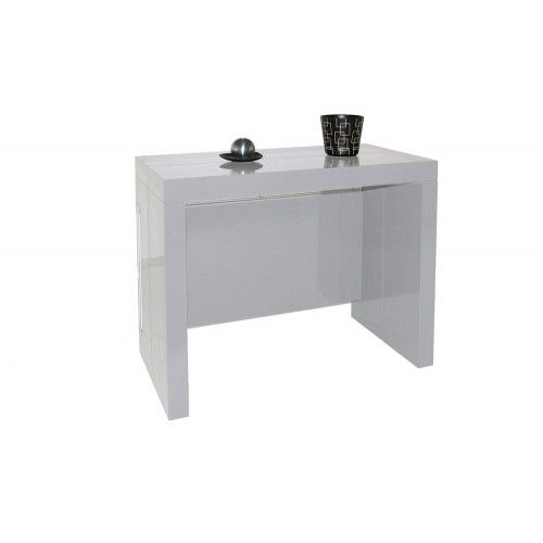 Table Console Extensible Milano Gris Clair