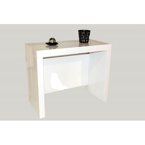 Table Console Extensible Milano Blanc
