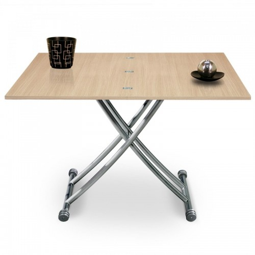Table basse relevable Mirage Chêne Clair