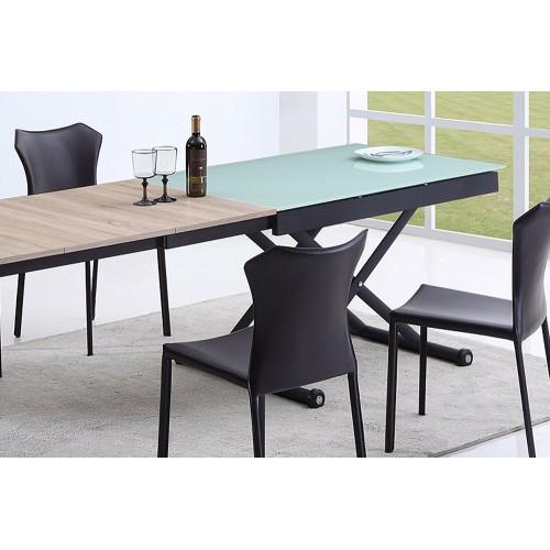 Table relevable 3 allonges Vivaldi BLANC 2m55 14 couverts