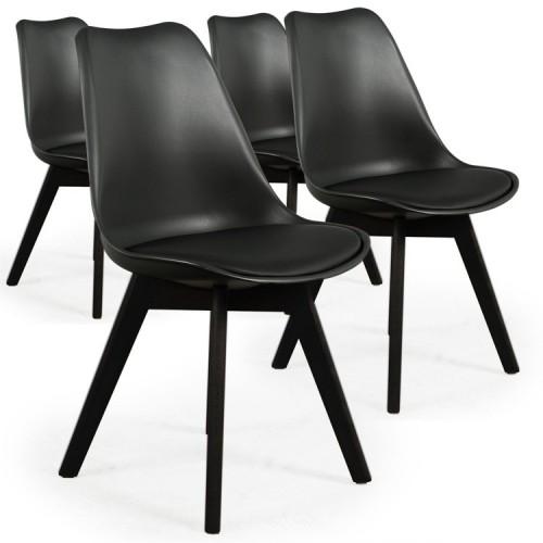 Lot de 4 Chaises DIANA Noir