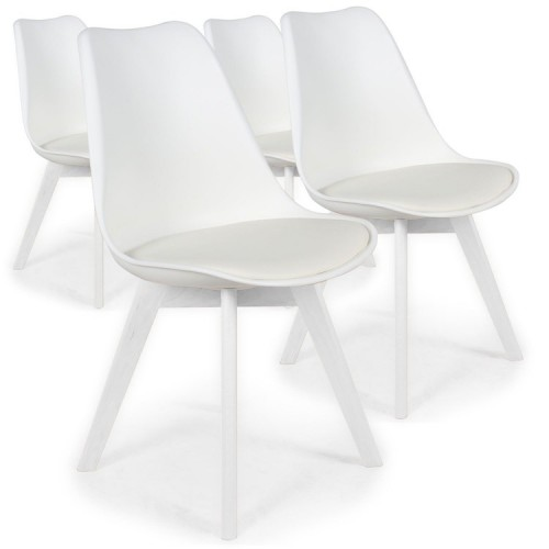 Lot de 4 Chaises DIANA Blanc