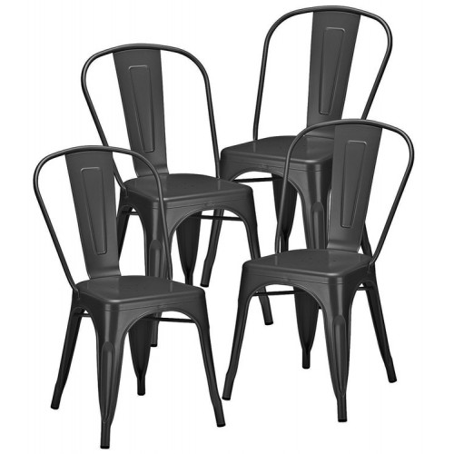 Lot de 4 Chaises ATELIER Anthracite