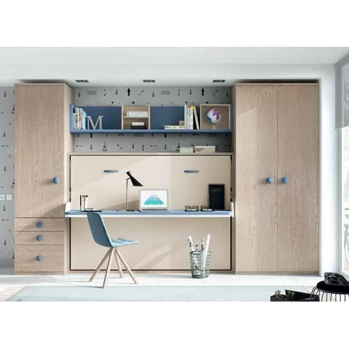 Armoire-Lit horizontale SISMA Bureau