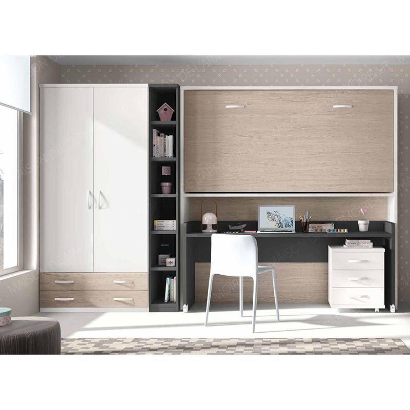 Armoire-Lit horizontale SONALIO Bureau